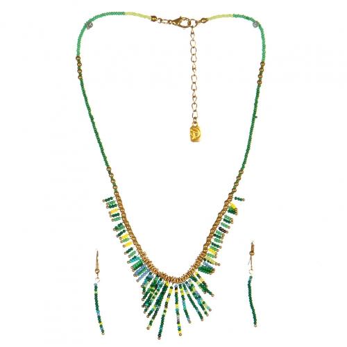 wholesale N31 FNE3456GDGR-3 Necklace Set fashionunic