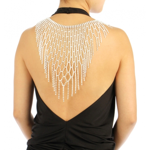 wholesale N35 Stone Large Back Necklace BACK2332SCL