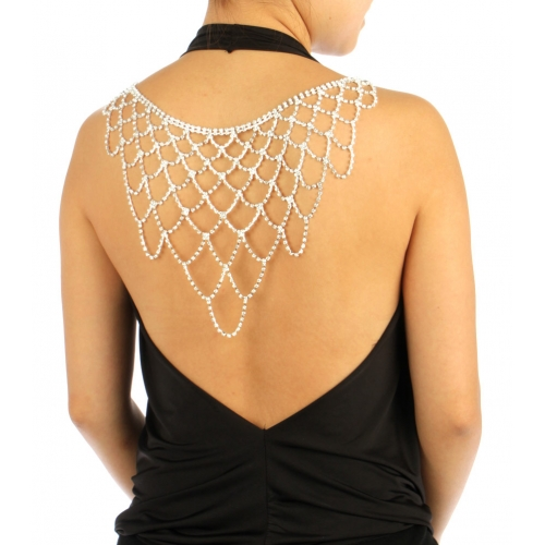 wholesale N35 Stone Large Back Necklace BACK2336RCL