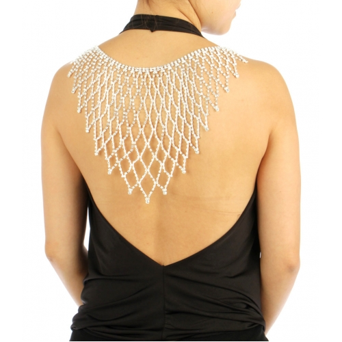 wholesale N35 Stone Large Back Necklace BACK2337RCL