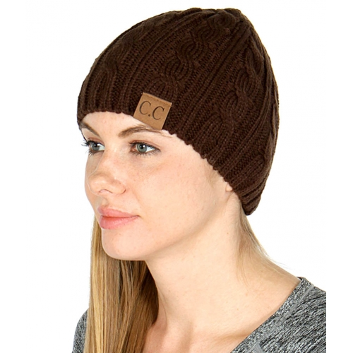 wholesale O12 Basic cable knit Beanie Beige fashionunic
