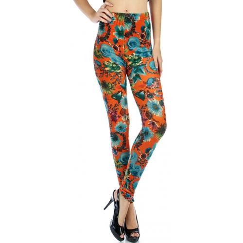 wholesale B07 Floral jewel knit brushed leggings