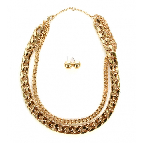 wholesale N30 HAS7512G Necklace Gold fashionunic