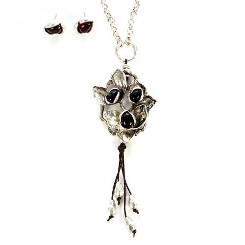 wholesale N30 HLS7756BSMU Necklace Multy/Burn Silver