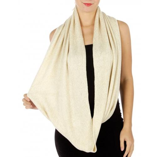 wholesale O28 Lurex Knit infinity scarf IV fashionunic