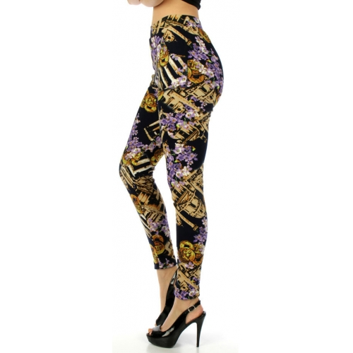 wholesale Q00 Roman gold fur leggings fashionunic
