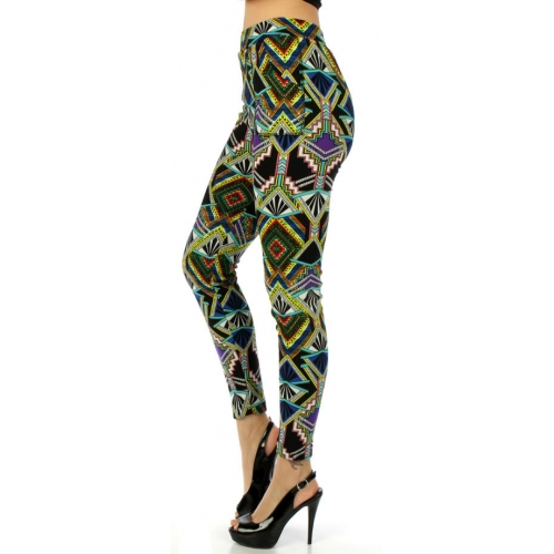 wholesale Q00 Tribal temple fur leggings fashionunic