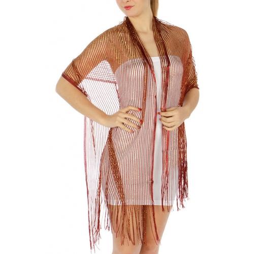 wholesale BX3 Metallic lurex fishnet scarves Dozen