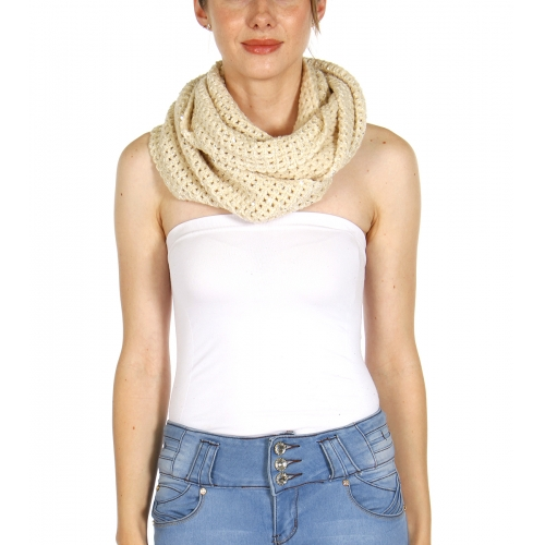 wholesale E19 Sequins knit infinity scarf IV fashionunic