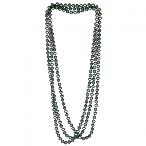 wholesale N35 8mm 90 inch knot pearl long necklace Black