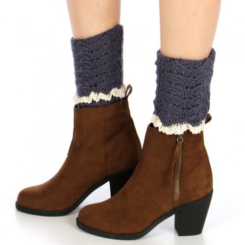 wholesale Q52 Crochet top lace leg warmers Marlin