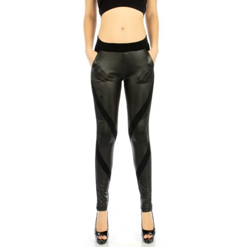 wholesale Q65 Narrow panel pocket liquid leggings S/M
