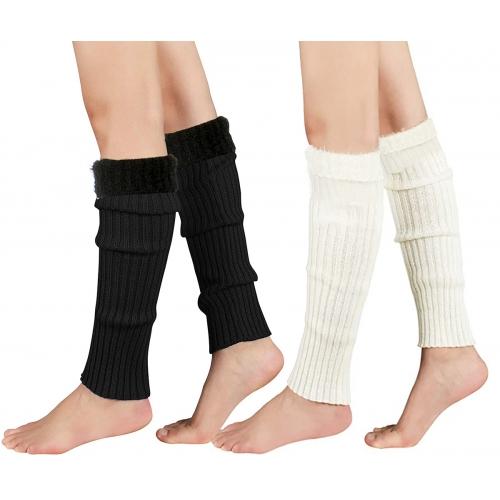 wholesale Q81 Fuzzy toppers fashion leg warmers Grey