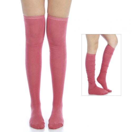 wholesale H15 Cotton over knee long socks Brown