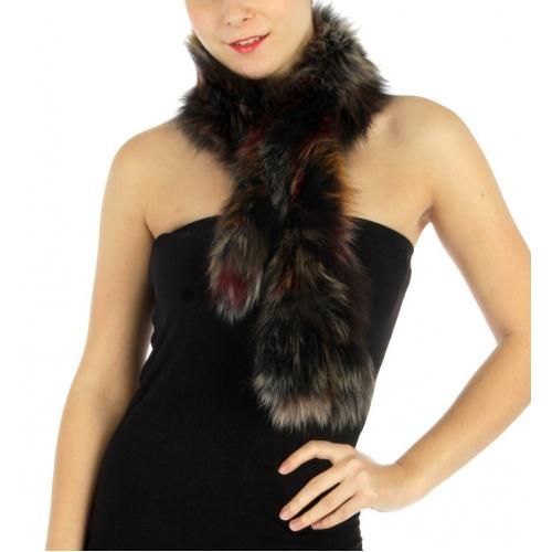 wholesale L22 Multi color fox fur scarf fashionunic