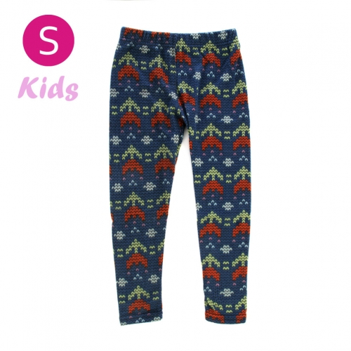wholesale BX5 Double arrow fleece kids leggings S