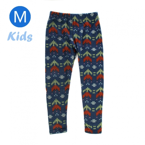 wholesale BX5 Double arrow fleece kids leggings M