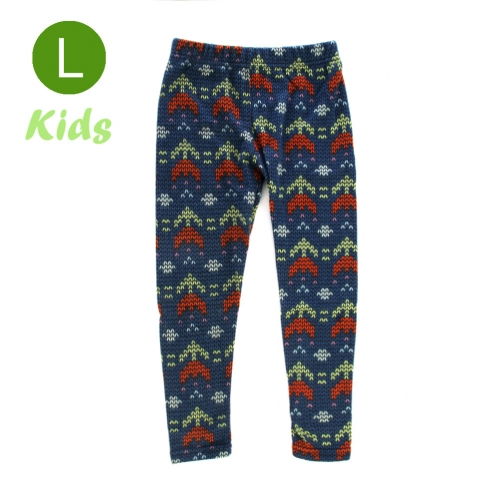 wholesale BX5 Double arrow fleece kids leggings L