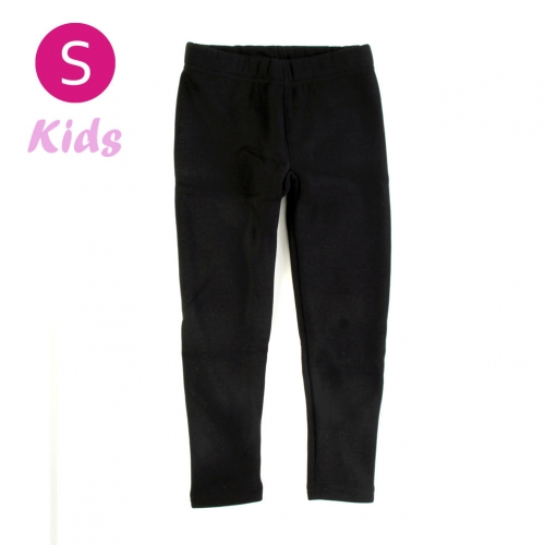 wholesale Q30 Kids cotton brushed leggings Black S