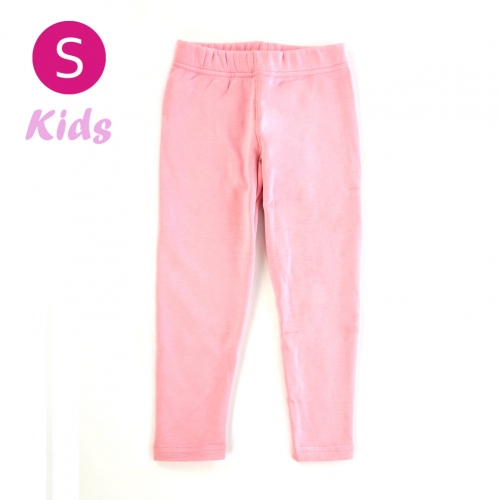 wholesale Q34 Kids cotton brushed leggings Light Pink S