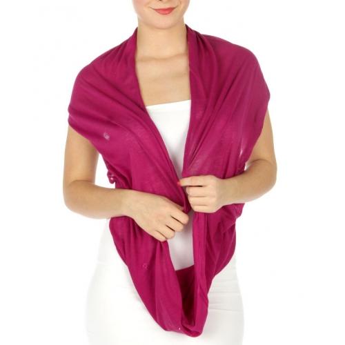 wholesale H12 Soft infinity scarf Plum fashionunic