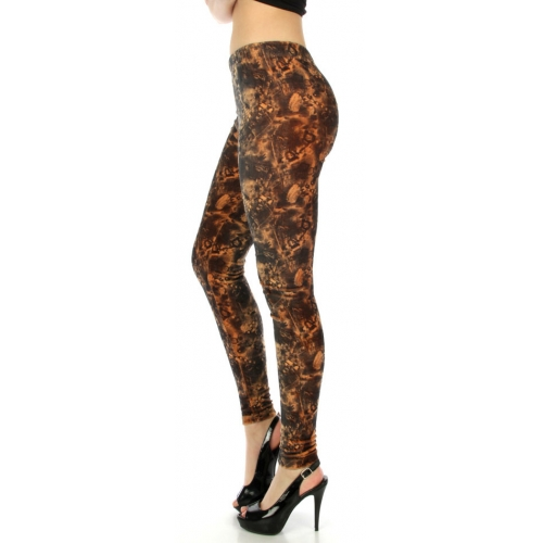 wholesale B05 Mystical pattern velour leggings S