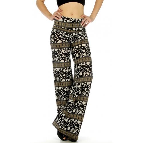 Wholesale C35 Flower n stripe palazzo pants fashionunic
