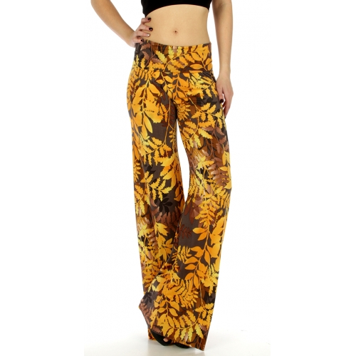 wholesale C32 Leaves pile print palazzo pants