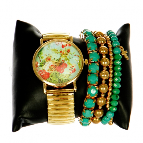 wholesale N36 Arm candy watch w/ bracelets Multi CMWH0201