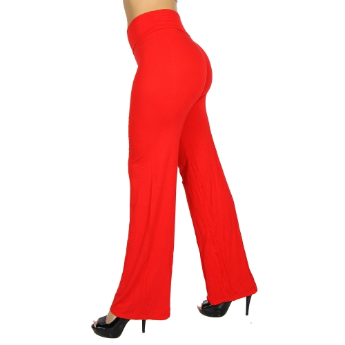 Wholesale C06 Solid palazzo pants 1277 Brown fashionunic