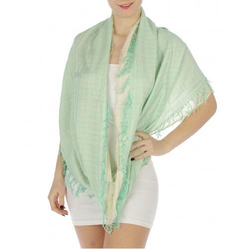 wholesale K37 Arabesque design tassel infinity scarf MNT