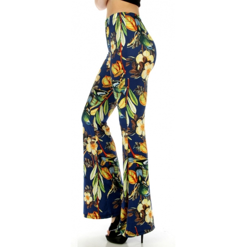 wholesale B06 Flower bell bottom pants fashionunic