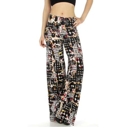 wholesale WA00 Geometric print palazzo pants fashionunic