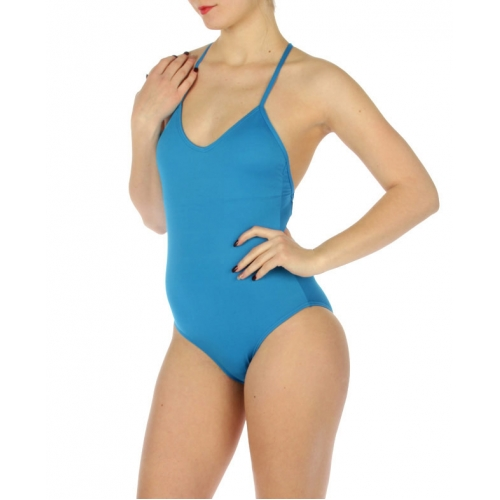 wholesale K93 Solid one piece swimsuit Blue