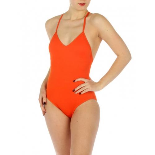 wholesale K18 Solid one piece swimsuit Orange