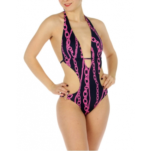wholesale K16 Chains one piece swimsuit Navy/Pink