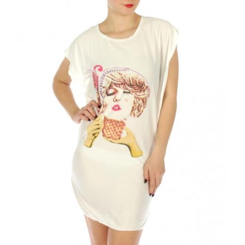 wholesale K22 Girl print cotton sleep shirt Purple