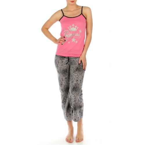 wholesale K52 Leopard metallic cotton pajama set SV