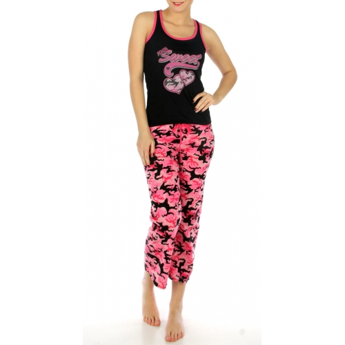 wholesale  heart camouflage cotton pajama set 87095-1