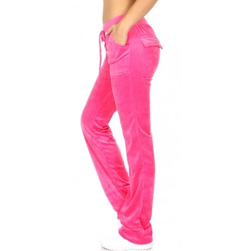 wholesale K41 Solid cotton velour pants Black