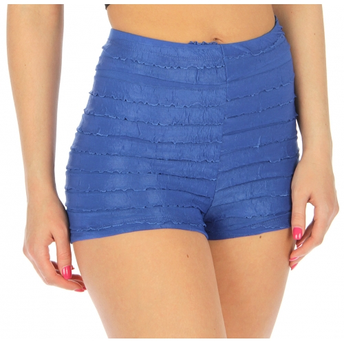 Wholesale K17 Ruffled cotton short pants R.Blue