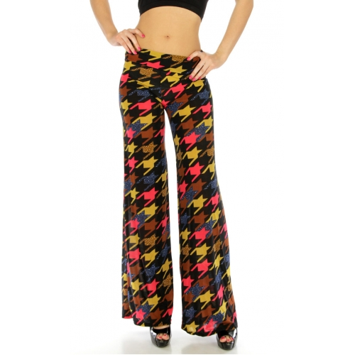 wholesale A16 Multicolor houndstooth sheer pantS/L