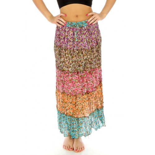 Wholesale K80 Multi flower cotton long skirt 01