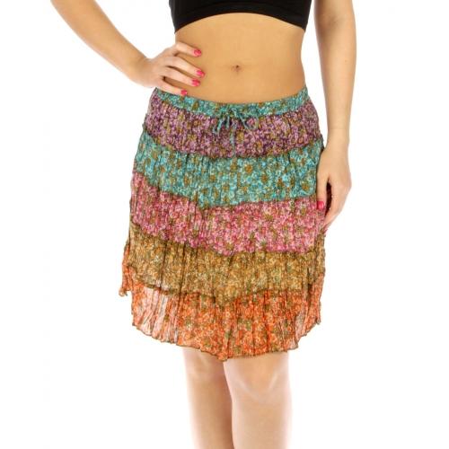 wholesale K76 Multi flower cotton skirt color #01