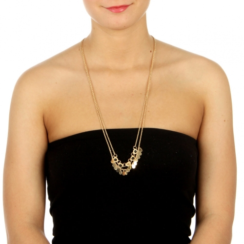 wholesale N39 Double chain necklace Black fashionunic