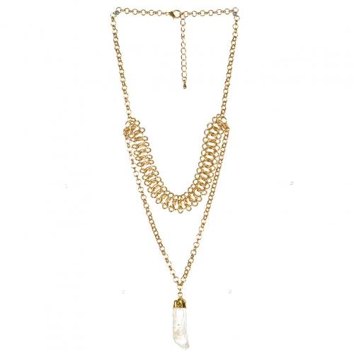 wholesale N41 Layered pendant necklace gold fashionunic