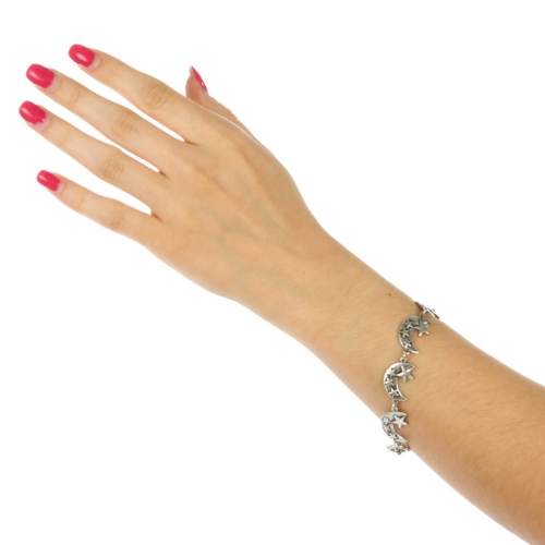 wholesale N37 Crescent moon with star bracelet SB