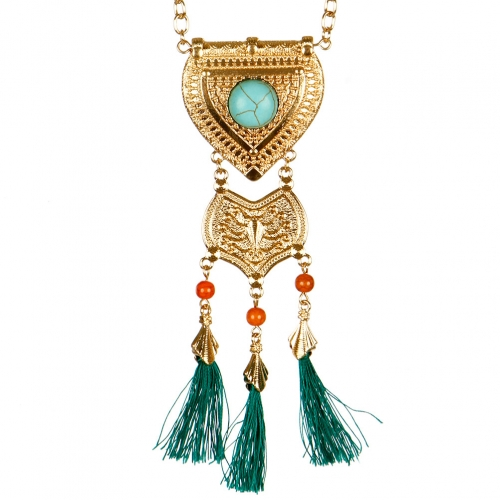 wholesale N30 Manufactured turquoise necklace Gold