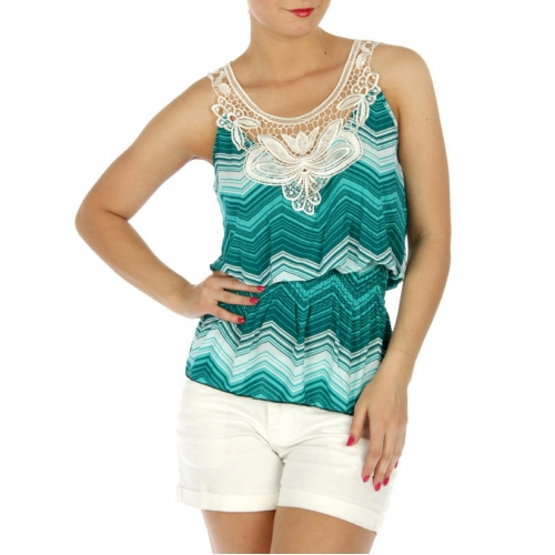 wholesale M04 Dozen chevron laced front top Medium