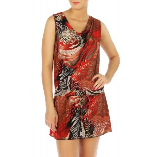 wholesale N15 Snakeskin print mini dress Grey